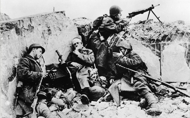 Ruskí vojaci počas bitky o Stalingrad, foto: internet