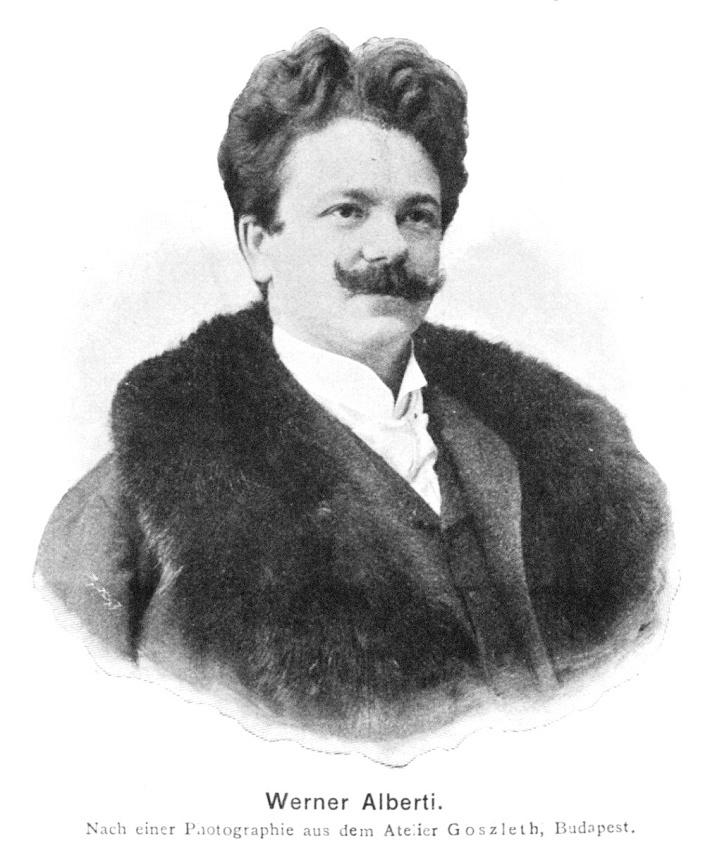 Werner Alberti, tenor, hosť Raulovej spoločnosti 1901, foto: wikipedia.sk