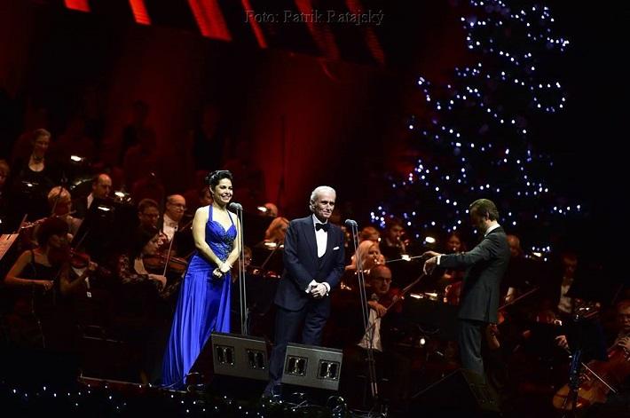 A Life in Music Tour José Carrerasa, Bratislava, 2016, Rebeca Olvera, José Carreras, David Giménez, Komorní Filharmonie Pardubice, foto: Patrik Ratajský