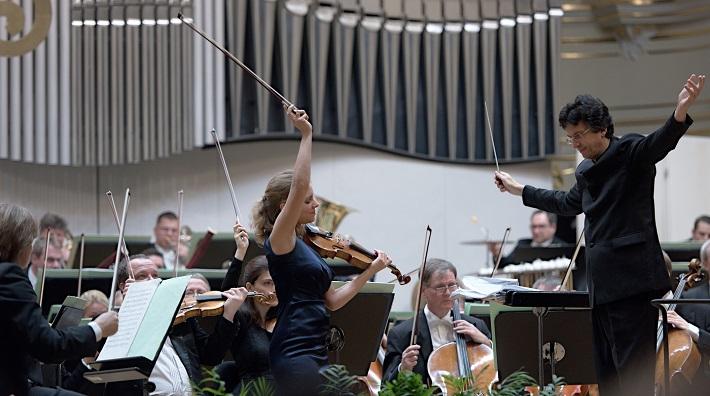 Bratislavské hudobné slávnosti 2016, Julia Fischer, Michael Sanderling, Drážďanská filharmónia, foto: Ján Lukáš