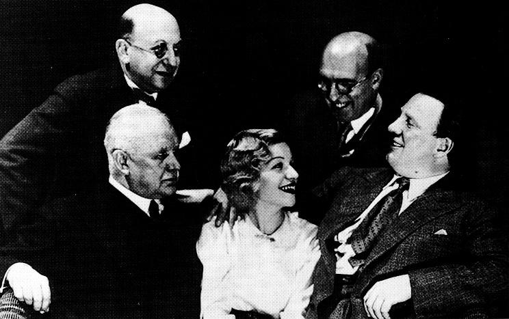 Fritz Löhner-Beda (libretista), Franz Lehár (skladateľ), Gitta Alpar (speváčka), Ludwig Herzer (libretista), Richard Tauber (spevák)