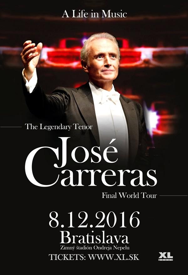 José Carreras, koncert v BA, plagát