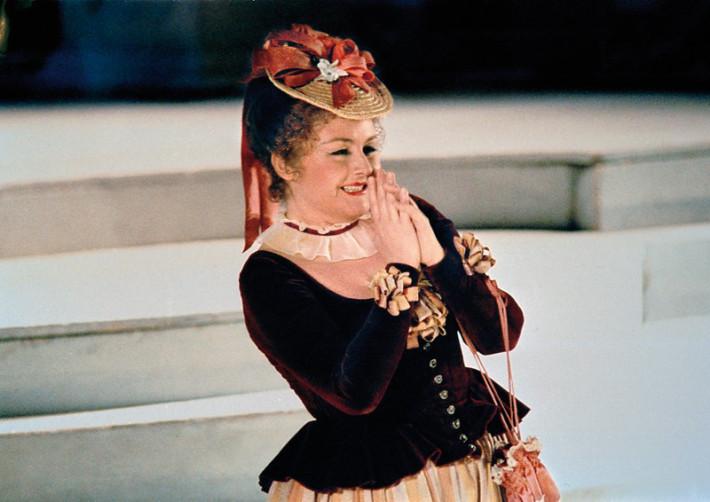 R. Strauss: Ariadna na Naxe, Viedenská štátna opera, 1983, Edita Gruberová (Zerbinetta), foto: Axel Zeininger