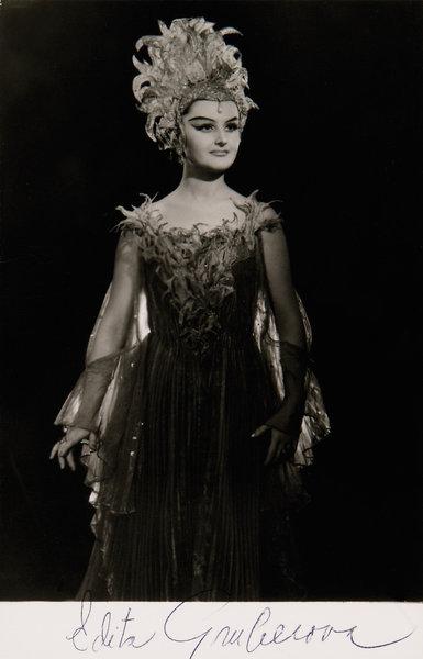 W. A. Mozart: Čarovná flauta, Viedenská štátna opera, 1970, Edita Gruberová (Kráľovná noci), foto: Fayer