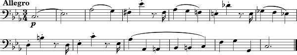 W. A. Mozart, Klavírny koncert c mol KV 491, téma