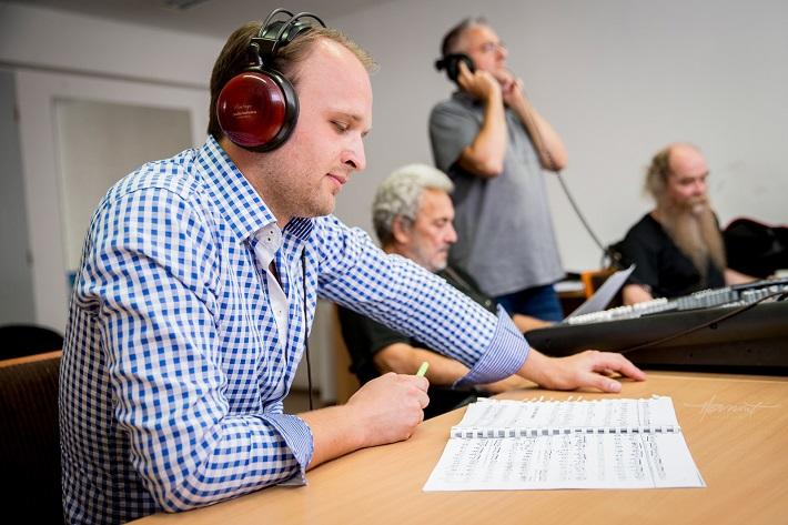 fotografia z nahrávania CD Richarda Švedu, Richard Šveda, foto: Zdenko Hanout