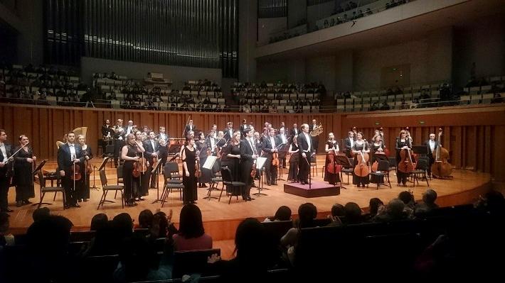 Koncertné turné orchestra Štátnej filharmónie Košice v Číne, 2016/2017, koncert v Pekingu, Zbyněk Müller, orchester ŠfK, foto: Archív ŠfK