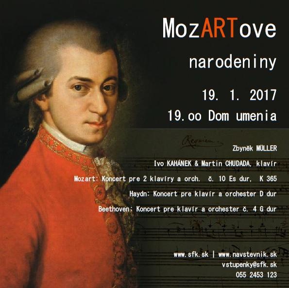 Mozartove narodeniny v ŠFK, plagát