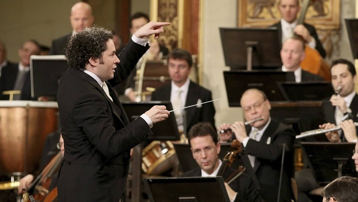 Novoročný koncert Viedenských filharmonikov, 2017, Gustavo Dudamel, foto: Herbert Neubauer