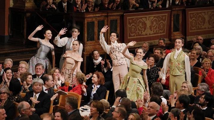 Nvoročný koncert Viedenských filharmonikov, 2017, študenti Baletnej akadémie Viedenskej štátnej opery, foto: Roman Zach-Kiesling