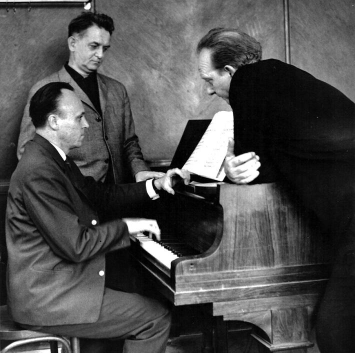 Trio zakladateľov moderného muzikálu Z. Macháček, B. Kramosil a B. Slovák, foto: Archív Z.M.