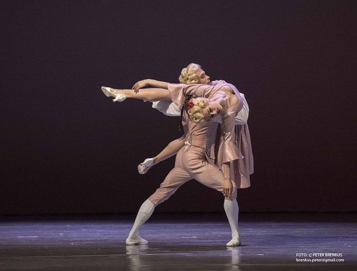 bcb4e57ce P. Breiner: Beatles go Baroque, Balet SND, 2018, Evgenii Korsakov, Ilinca  Ducin (choreografia Eight days a week), foto: Peter Brenkus
